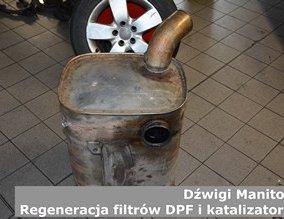 Dźwigi Manitou | Regeneracja filtrów DPF i katalizatorów