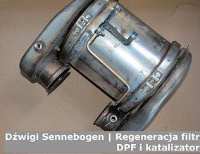 Dźwigi Sennebogen | Regeneracja filtrów DPF i katalizatorów