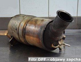 Filtr DPF - objawy zapchania