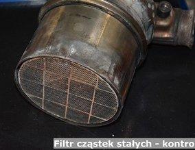 Filtr cząstek stałych - kontrolka