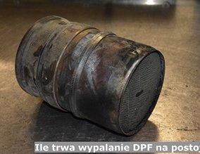 Ile trwa wypalanie DPF na postoju?