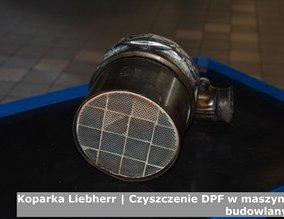 Koparka Liebherr | Czyszczenie DPF w maszynach budowlanych
