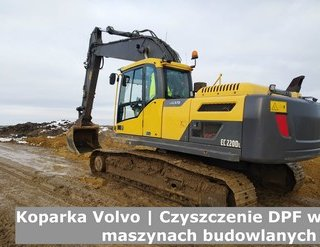 Koparka Volvo | Czyszczenie DPF w maszynach budowlanych