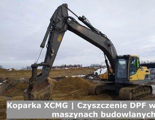 Koparka XCMG | Czyszczenie DPF w maszynach budowlanych