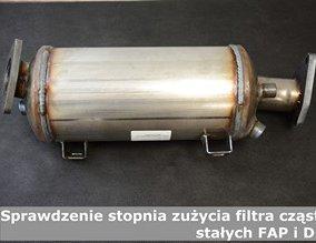Sprawdzenie stopnia zużycia filtra cząstek stałych FAP i DPF