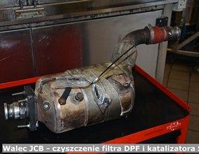 Walec JCB - czyszczenie filtra DPF i katalizatora SCR