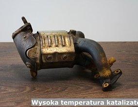 Wysoka temperatura katalizatora