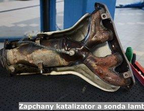 Zapchany katalizator a sonda lambda