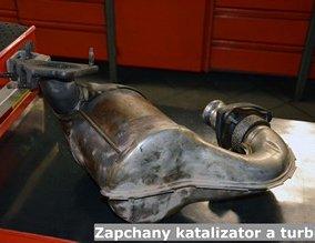 Zapchany katalizator a turbina