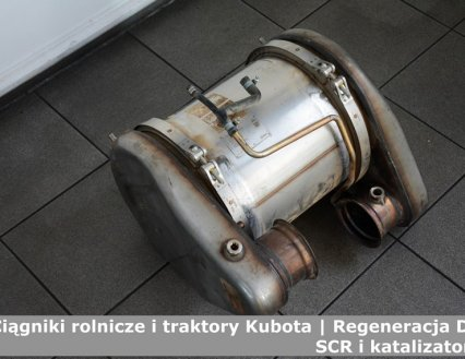 Ciągniki rolnicze i traktory Kubota | Regeneracja DPF, SCR i katalizatorów