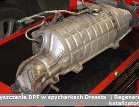 Czyszczenie DPF w spycharkach Dressta  | Regeneracja katalizatorów