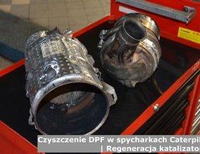 Czyszczenie DPF w spycharkach Caterpillar | Regeneracja katalizatorów