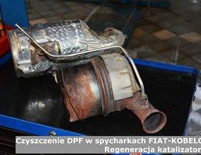 Czyszczenie DPF w spycharkach FIAT-KOBELCO | Regeneracja katalizatorów