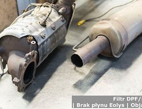 Filtr DPF/FAP | Brak płynu Eolys | Objawy