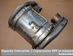 Koparka Caterpillar | Czyszczenie DPF w maszynach budowlanych