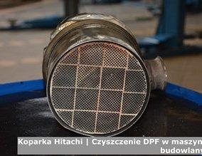 Koparka Hitachi | Czyszczenie DPF w maszynach budowlanych