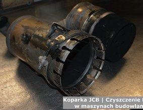 Koparka JCB | Czyszczenie DPF w maszynach budowlanych