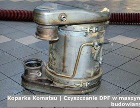 Koparka Komatsu | Czyszczenie DPF w maszynach budowlanych