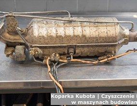 Koparka Kubota | Czyszczenie DPF w maszynach budowlanych