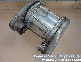 Koparka Sany | Czyszczenie DPF w maszynach budowlanych