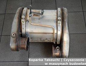 Koparka Takeuchi | Czyszczenie DPF w maszynach budowlanych