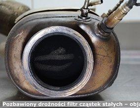 Pozbawiony drożności filtr cząstek stałych – objawy