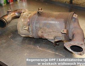 Regeneracja DPF i katalizatorów SCR w wózkach widłowych Hyundai