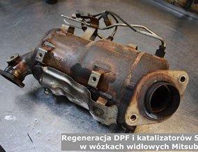 Regeneracja DPF i katalizatorów SCR w wózkach widłowych Mitsubishi