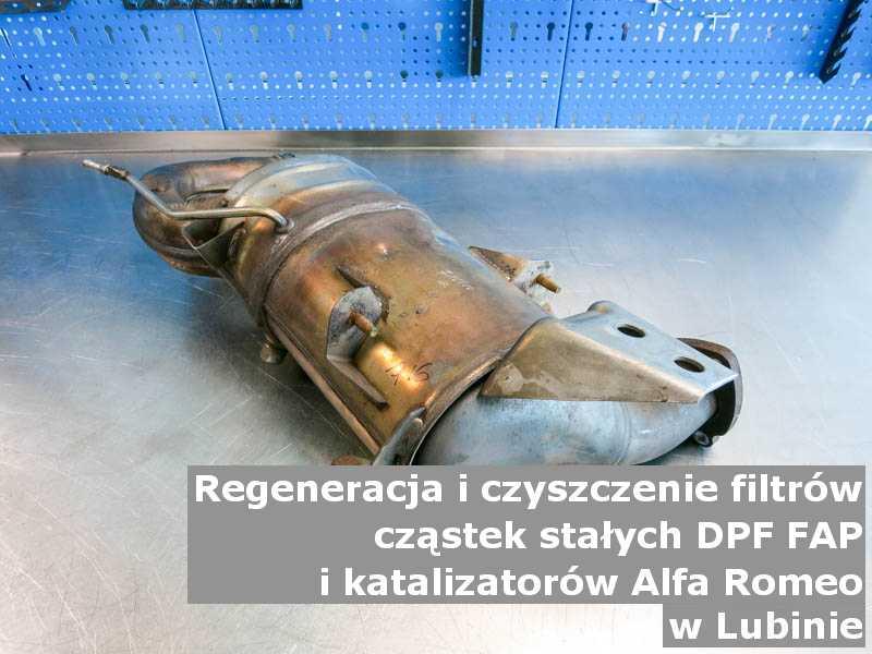 Myty filtr cząstek stałych FAP marki Alfa Romeo, w warsztacie, w Lubinie.
