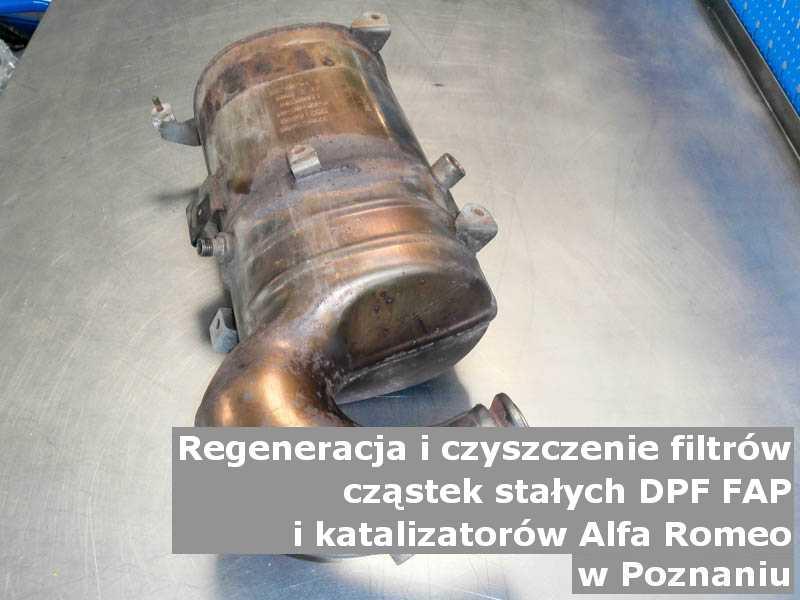 Naprawiany katalizator utleniający marki Alfa Romeo, w pracowni laboratoryjnej, w Poznaniu.