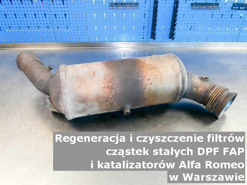 Oczyszczony katalizator marki Alfa Romeo, w pracowni, w Warszawie.