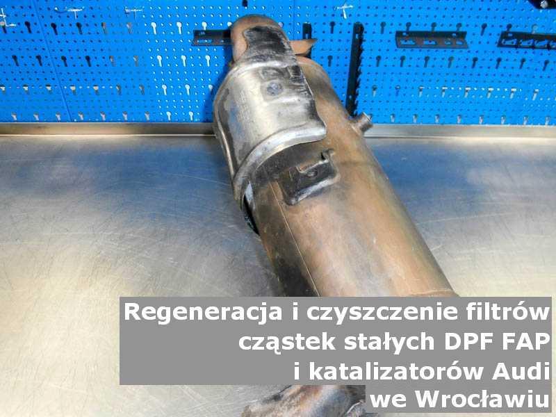 Oczyszczony filtr FAP marki Audi, w specjalistycznej pracowni, w Wrocławiu.