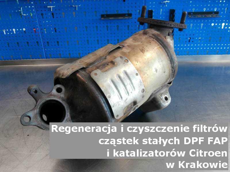 Wypalany katalizator marki Citroen, w pracowni regeneracji, w Krakowie.