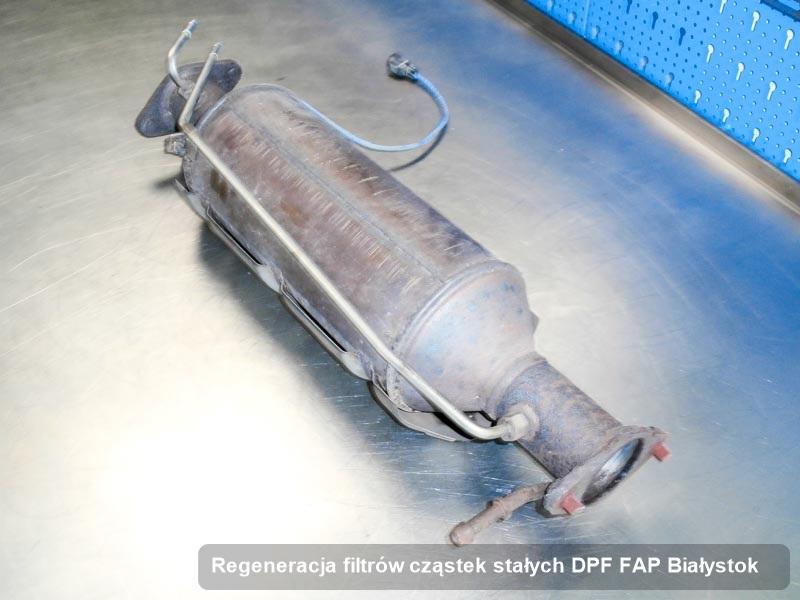 Filtr FAP wyczyszczony w pracowni w Białymstoku