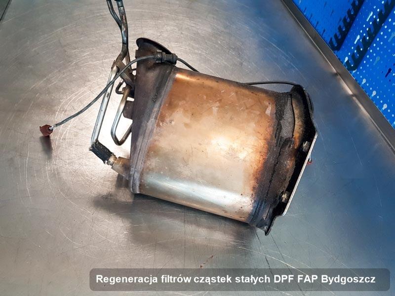 Filtr cząstek stałych po regeneracji w warsztacie z Bydgoszczy
