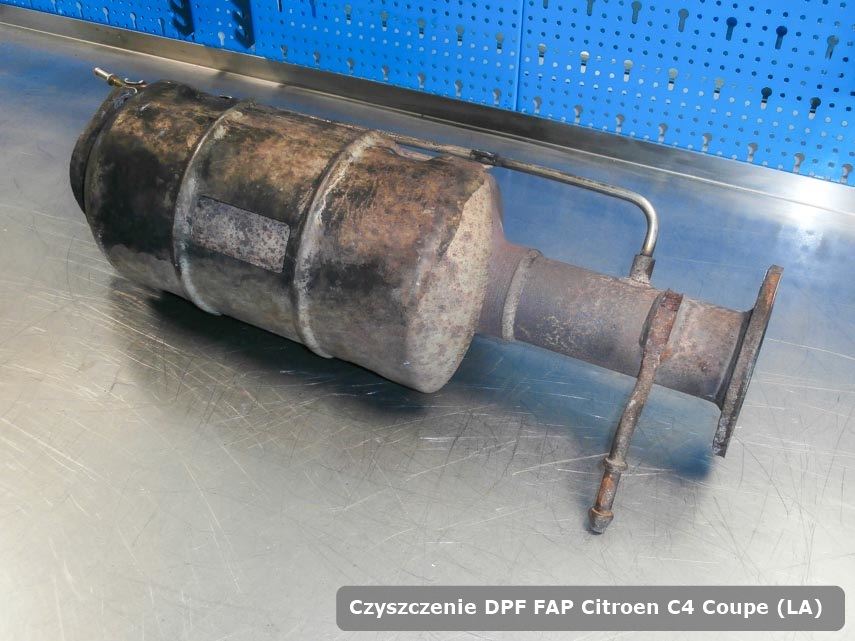 Filtr cząstek stałych Citroen C4 Coupe (LA) wypalony na specjalnej maszynie gotowy do montażu