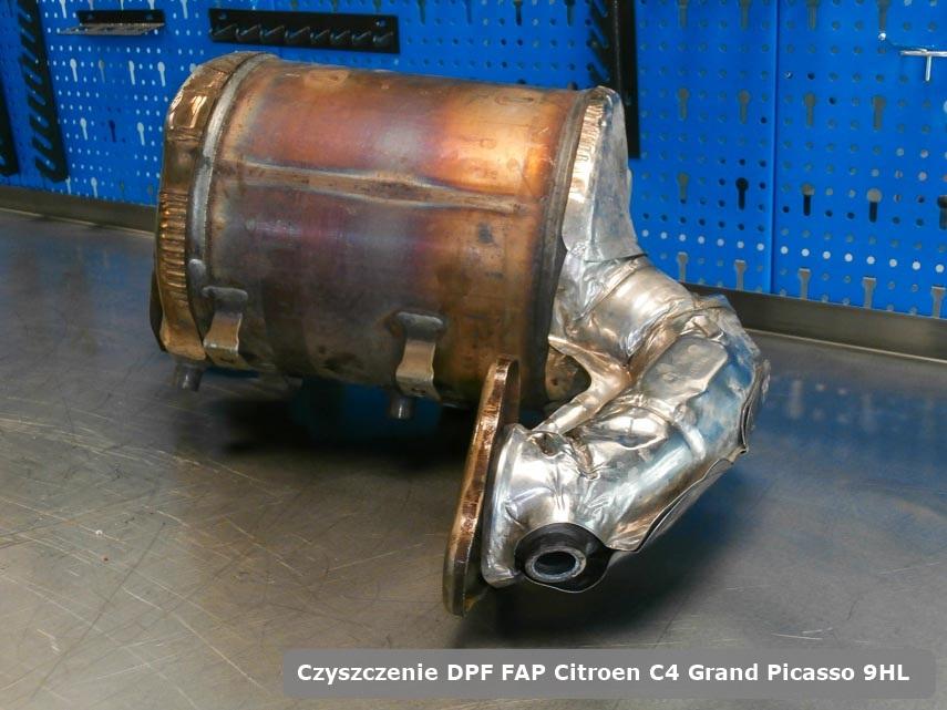 Filtr cząstek stałych FAP Citroen C4 Grand Picasso 9HL wyremontowany na dedykowanej maszynie gotowy do instalacji