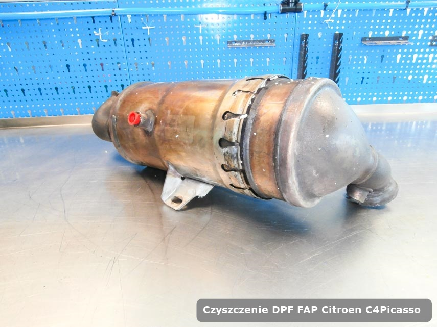 Filtr DPF Citroen C4Picasso wyremontowany w specjalistycznym urządzeniu gotowy do zamontowania
