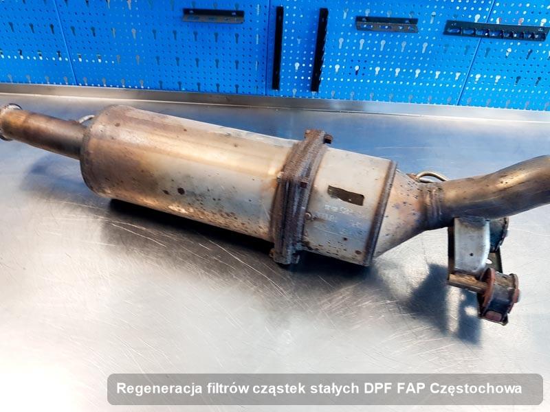 Filtr cząstek stałych DPF FAP po regeneracji w warsztacie w Częstochowie