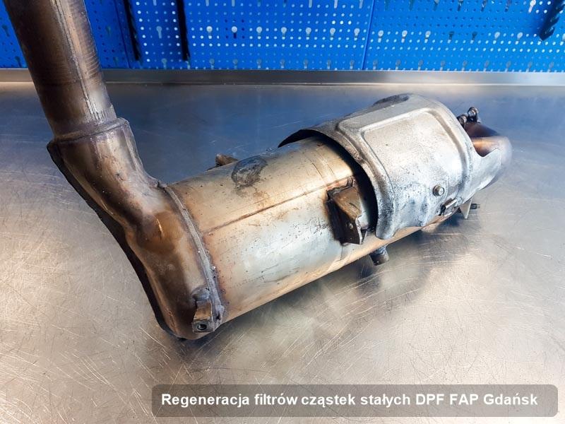 Filtr FAP po regeneracji w warsztacie z Gdańska