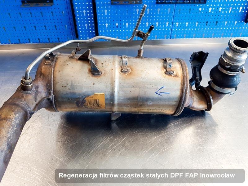 Filtr FAP po regeneracji w warsztacie w Inowrocławiu