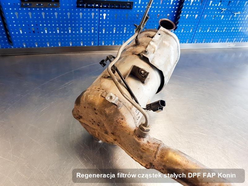 Filtr cząstek stałych wyczyszczony w warsztacie w Koninie