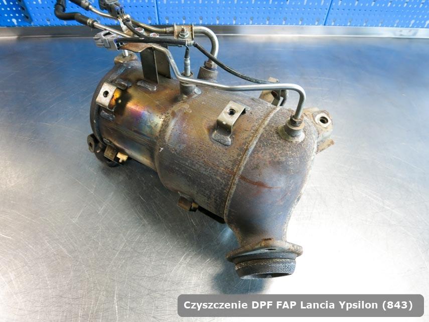 Filtr FAP Lancia Ypsilon (843) oczyszczony na odpowiedniej maszynie gotowy spakowania