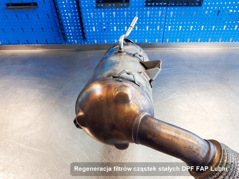 Filtr cząstek stałych DPF FAP po regeneracji w przedsiębiorstwie z Lubina