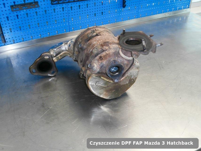 Filtr cząstek stałych DPF Mazda 3 Hatchback oczyszczony na dedykowanej maszynie gotowy do zamontowania