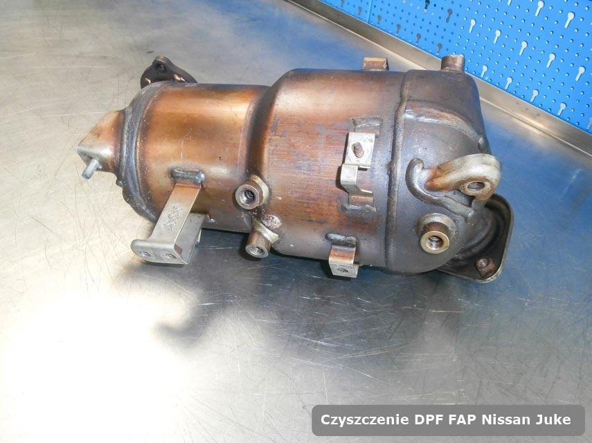 Filtr cząstek stałych DPF I FAP Nissan Juke wyczyszczony w specjalnym urządzeniu gotowy do montażu