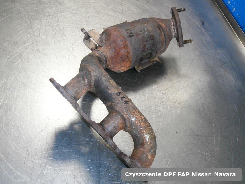 Filtr cząstek stałych DPF I FAP Nissan Navara dopalony w specjalistycznym urządzeniu gotowy do instalacji