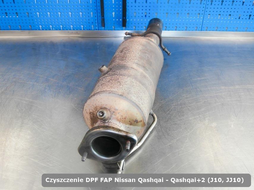 Filtr cząstek stałych DPF Nissan Qashqai / Qashqai+2 (J10, JJ10) dopalony na specjalnej maszynie gotowy do montażu