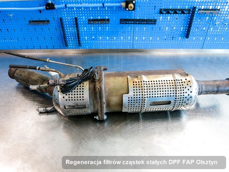 Filtr DPF po regeneracji w firmie w Olsztynie