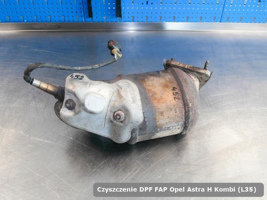 Filtr DPF układu redukcji emisji spalin Opel Astra H Kombi (L35) naprawiony na specjalnej maszynie gotowy do zamontowania